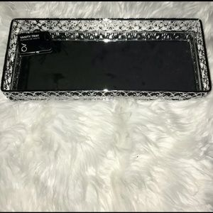 Other - NWT Vanity Tray   Silver Mirror Tray